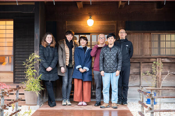 Artists in residence at Artists' Retreat no-mu, Kameoka. Photo by Takuya Yamaguchi